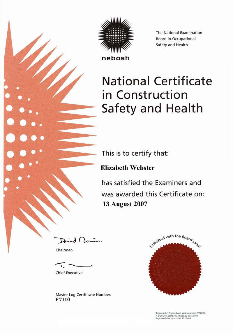 NEBOSH Certificate, Liz Preston