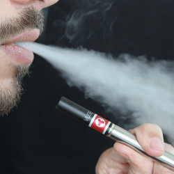 Vaping e-cigarettes