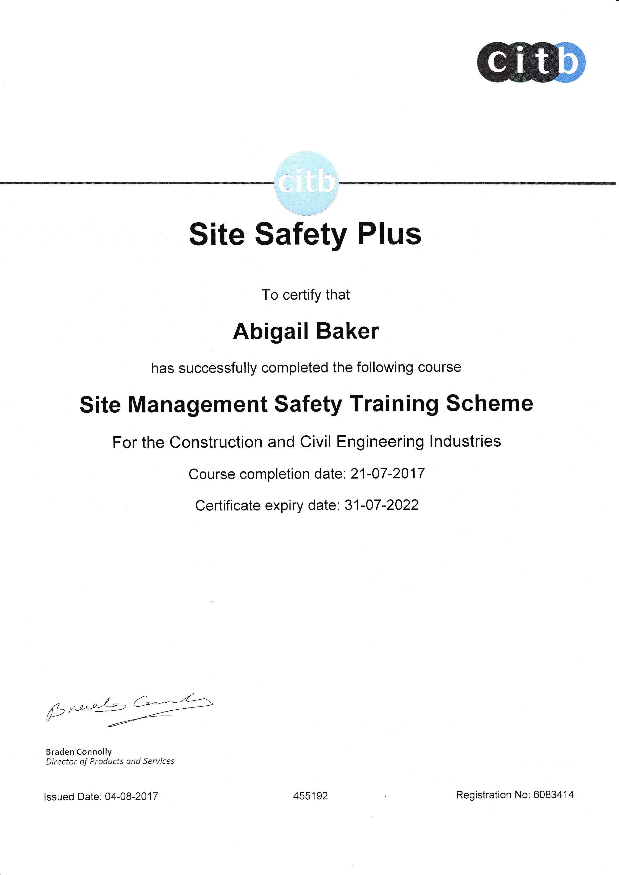 Abi Baker Craven Safety Services Health Safety Advisor