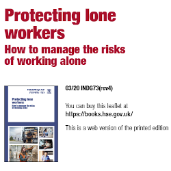 Lone working INDG73